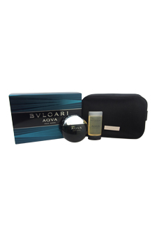 Bvlgari Aqva by Bvlgari for Men - 3 Pc Gift Set 3.4oz EDT Sp
