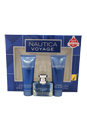 Nautica Voyage by Nautica for Men - 3 Pc Gift Set 1oz EDT Spray, 2.5oz Shower Gel, 2.5oz After Shave Balm