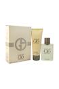 Acqua Di Gio by Giorgio Armani for Men - 2 Pc Gift Set 1.7oz EDT Spray, 2.5oz After Shave Balm