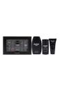 Drakkar Noir by Guy Laroche for Men - 3 Pc Gift Set 3.4oz EDT Spray, 1.69oz Hair and Body Shower Gel, 2.6oz Intense Cooling Deodorant
