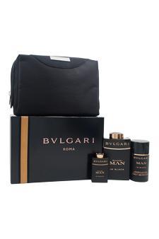 Bvlgari Man In Black  men 3.4oz EDP Spray Deodorant Stick Gift Set