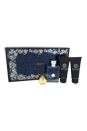 Versace Pour Homme by Versace for Men - 4 Pc Gift Set 3.4oz EDT Spray, 3.4oz After Shave Balm, 3.4oz Perfumed Shower Gel, Versace Keychain