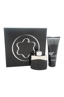 Mont Blanc Legend by Montblanc for Men - 2 Pc Gift Set 1.7oz EDT Spray, 3.3oz After Shave Balm