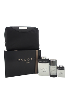 Bvlgari Man Extreme  men 3.4oz EDT Spray Deodorant Gift Set