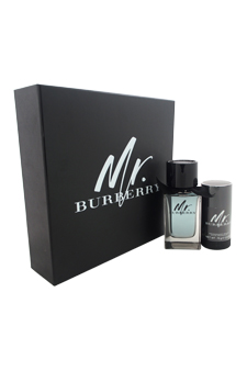 Mr. Burberry  men 3.3oz EDT Spray Deodorant Stick Gift Set