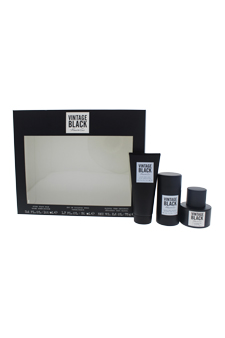 Kenneth Cole Vintage Black by Kenneth Cole for Men - 3 Pc Gift Set 1.7oz EDT Spray, 2.6oz Deodorant Stick , 3.4oz After Shave Balm