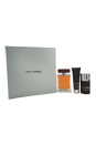 The One by Dolce & Gabbana for Men - 3 Pc Gift Set 5oz EDT Spray, 1.6oz Shower Gel, 2.4oz Deodorant Stick