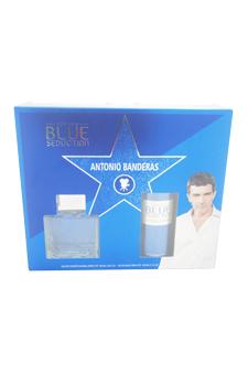 Blue Seduction by Antonio Banderas for Men - 2 Pc Gift Set 3.4oz EDT Spray, 5.1oz Deodorant Spray