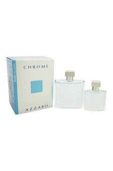 Loris Azzaro Chrome  men 3.4oz EDT Spray Gift Set
