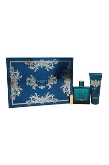 Versace Eros  men 3.4oz EDT Spray Shower Gel Gift Set