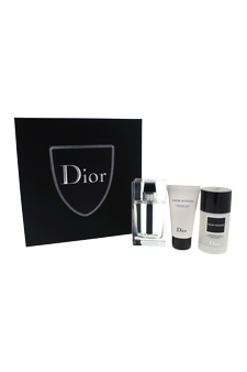Christian Dior Dior Homme Eau For Men 3.4oz EDT Spray Aftershave Deodorant Stick Gift Set