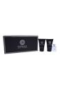 Versace Pour Homme by Versace for Men - 3 Pc Mini Gift Set 0.8oz Hair & Body Shampoo, 0.17oz EDT Splash, 0.8oz After Shave Balm