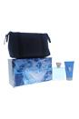 Chrome by Loris Azzaro for Men - 3 Pc Gift Set 1.7oz EDT Spray, 1.7oz All Over Shampoo, Bag