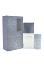 L'eau D'issey by Issey Miyake for Men - 2 Pc Gift Set 3.3oz EDT Fraiche, 2.6oz Deodorant Stick Alcohol Free