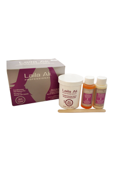 Mild Strength Conditioning Hair Relaxer Kit by Laila Ali for Unisex - 4 Pc Set 8oz Hair Relaxer, 1.5oz Conditioning Neutralizing Shampoo, 1.5oz After Relaxer Conditioner, Gloves