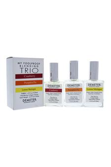 Blending Trio by Demeter for Unisex - 3 Pc Gift Set 1oz Cranberry Cologne Spray, 1oz Pumpkin Pie Cologne Spray, 1oz Lemon Meringue Cologne Spray (Limited Edition)