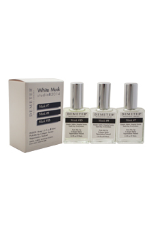 White Musk Studio Set by Demeter for Unisex - 3 Pc Gift Set 1oz White Musk - # 7 Cologne Spray, 1oz White Musk - # 9 Cologne Spray, 1oz White Musk - # 15 Cologne Spray