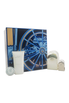 Voyage D'Hermes by Hermes for Unisex - 4 Pc Gift Set 3.3oz EDT Spray (Refillable), 0.16oz EDT Mini Splash, 1oz All Over Shower Gel, 0.35oz Moisturizing Balm Face & Body