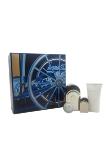 Voyage D'Hermes by Hermes for Unisex - 4 Pc Gift Set 3.3oz Pure Perfume Spray (Refillable), 0.16oz Pure Perfume Mini Splash, 1oz All Over Shower Gel, 0.35oz Moisturizing Balm Face & Body (Limited Edition)