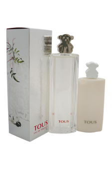 Tous Silver by Tous for Unisex - 2 Pc Gift Set 3.oz EDT Spray, 3.4oz Body Lotion