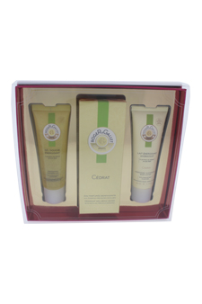Cedrat by Roger & Gallet for Unisex - 3 Pc Gift Set 3.3oz Fresh Fragrant Water Spray, 1.7oz Energising Shower Gel, 1.7oz Energising & Hydrating Body Lotion