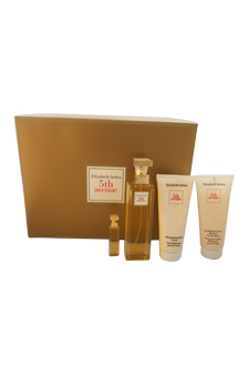 5th Avenue by Elizabeth Arden for Women - 4 pc Gift Set 2.5 oz EDP Spray, 0.12 oz Perfume Extract, 3.3 oz Body Lotion, 3.3 oz Hydrating Cream Body Cleanser