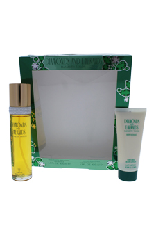 Diamonds and Emeralds by Elizabeth Taylor for Women - 2 pc Gift Set 3.4 oz EDT Spray and 3.4 oz Body Lotion