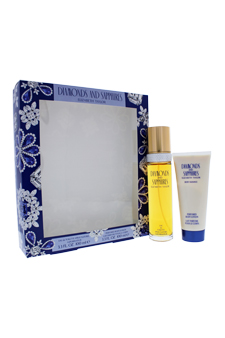 Diamonds and Sapphires by Elizabeth Taylor for Women - 2 pc Gift Set 3.4oz edt Spray, 3.4oz perfumed body lotion