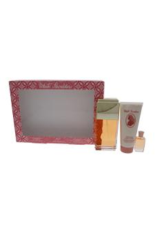 White Shoulders by Evyan for Women - 3 pc Gift Set 4.5oz edc Spray, 3.3oz body lotion, 7.5ML Mini