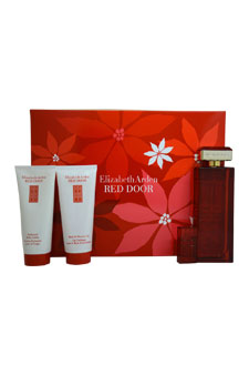 Red Door by Elizabeth Arden for Women - 4 Pc Gift Set 3.3oz EDT Spray, 3.3oz Perfumed Body Lotion, 3.3oz Bath and Shower Gel, 10ml EDT Spray Mini