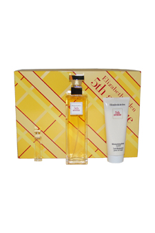 EZ 5th Avenue by Elizabeth Arden for Women - 3 Pc GiftSet 3.3oz moisturizing body lotion, 2.5oz edp spray, 3.3oz hydrating cream cleanser