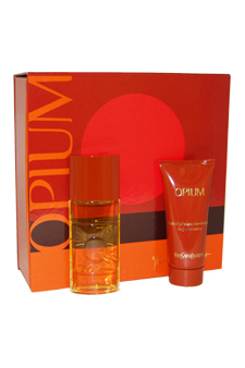 Opium by Yves Saint Laurent for Women - 2 Pc Gift Set 1.6oz EDT Spray, 3.3oz Body Moisturizer