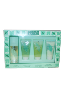 Green Tea by Elizabeth Arden for Women - 4 Pc Gift Set 1.7oz EDP Spray, 1.7oz Energizing Bath and Shower Gel, 1.7oz Energizing Shampoo, 1.7oz Energizing Conditioner