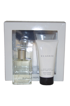 Banana Republic Classic by Banana Republic for Women - 2 Pc Gift Set 3.4oz EDT Spray, 5oz Body Lotion
