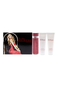 Heiress by Paris Hilton for Women - 3 Pc Gift Set 3.4oz EDP Spray, 3oz Body Lotion, 3oz Bath and Shower Gel