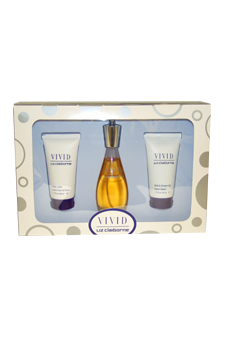 Vivid by Liz Claiborne for Women - 3 Pc Gift Set 1.7oz EDT Spray, 1.7oz Body Lotion, 1.7oz Bath & Shower Gel