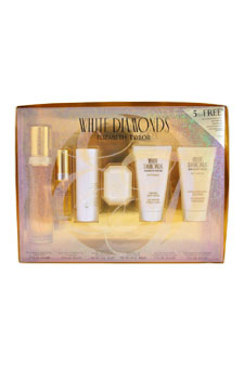 White Diamonds by Elizabeth Taylor for Women - 6 Pc Gift Set 1.7oz EDT Spray, 1.7oz Perfumed Body Lotion, 1.7oz Gentle Moisturizing Body Wash, 1oz Satin Body Talc, 1.5oz Perfumed Soap, 10ml EDT Mini Spray
