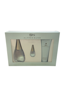 Shi by Alfred Sung for Women - 3 Pc Gift Set 3.4oz EDP Spray, 2.5oz Moisture Balance Body Lotion, 7ml Parfum Mini