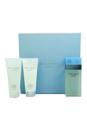 Light Blue by Dolce & Gabbana for Women - 3 Pc Gift Set 3.3oz EDT Spray, 3.3oz Refreshing Body Cream, 3.3oz Energy Body Bath & Shower Gel