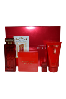 Red Door by Elizabeth Arden for Women - 4 Pc Gift Set 3.3oz EDT Spray, 2.6oz Perfumed Body Powder, 5oz Luxurious Body Cream, 5ml Parfum Splash