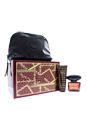 Versace Crystal Noir by Versace for Women - 3 Pc Gift Set 3oz EDT Spary, 3.4oz Body lotion, Travel Bag