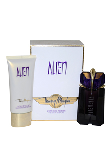 Alien by Thierry Mugler for Women - 2 Pc Gift Set 2oz EDP Spray, 3.4oz Radiant Body Lotion