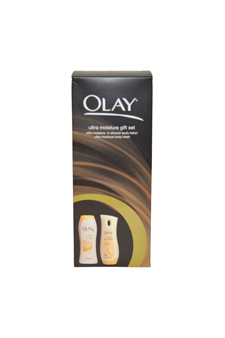 Ultra Moisture Set by Olay for Women - 2 Pc Gift Set 12oz Ultra Moisture Body Wash, 8.4oz Ultra Moisture Body Lotion