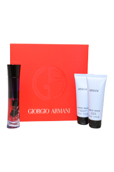 EZ Armani Code by Giorgio Armani for Women - 3 Pc Gift Set 1.7oz EDP Spray, 2.5oz Shower Gel, 2.5oz Body Lotion