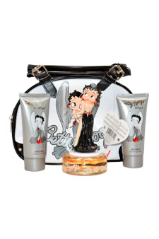 Betty Boop Angel by Betty Boop for Women - 4 Pc Gift Set 2.5oz EDP Spray, 3.4oz Body Lotion, 3.4oz Bubble Bath, Bag