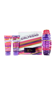 Justin Bieber's Girlfriend by Justin Bieber for Women - 3 Pc Gift Set 3.4oz EDP Spray, 3.4oz Touchable Body Lotion, 3.4oz Be With Me Body Wash