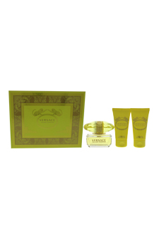 Versace Yellow Diamond by Versace for Women - 3 Pc Gift Set 1.7oz EDT Spray, 1.7oz Shower Gel, 1.7oz Body Lotion
