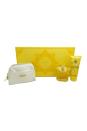 Versace Yellow Diamond by Versace for Women - 3 Pc Gift Set 3oz EDT Spray, 3.4oz Perfumed Body Lotion, Shiny Clutch Bag
