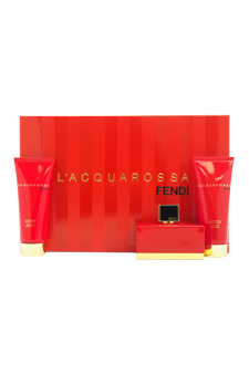 L'Acquarossa by Fendi for Women - 3 Pc Gift Set 2.5oz EDP Spray, 2.5oz Perfumed Body Lotion, 2.5oz Perfumed Shower Gel