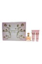Fancy by Jessica Simpson for Women - 4 Pc Gift Set 3.4oz EDP Spray, 0.34oz EDP Spray, 3oz Body Lotion, 3oz Bath & Shower Gel